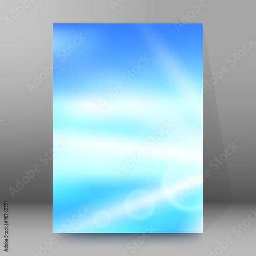 Blue Book Cover Background : Quot blur blue gradient background brochure cover page stock