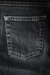 Black jeans with hip pocket background