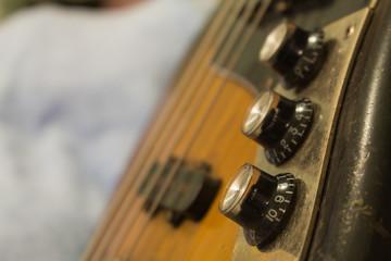 old Volume bass guitar black And white Lighting