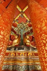 Buddha in the Temple of Thailand