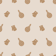Seamless vector pattern, symmetrical background with butterflies