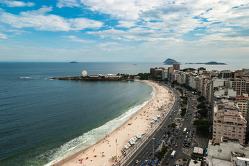 Aerial view at famous Copacabana Rio de Janeiro Brazil