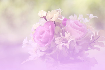 Soft blurred of Roses background. vintage style