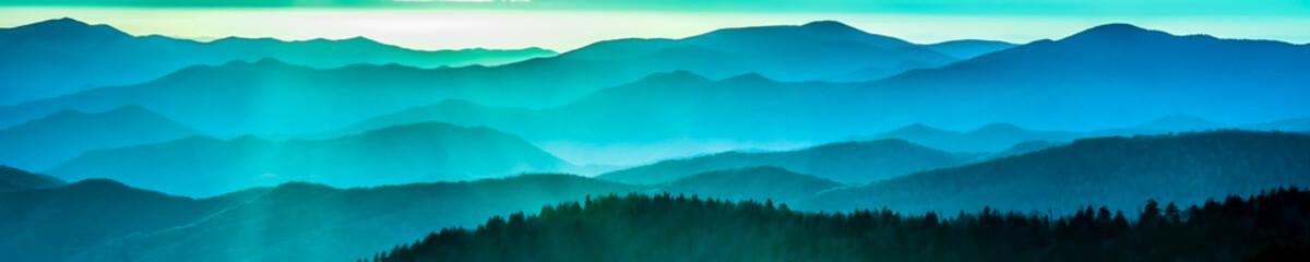 Foto op Plexiglas Bergen Smoky mountain ridges