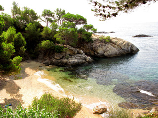 Beautiful sea shore and rocks in Costa Brava (Spain)
