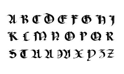 Grande majuscule gothique.