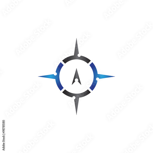 cool compass logo design vector icon template stock image and