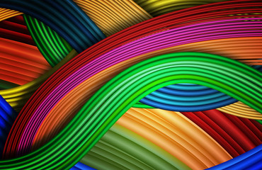 Abstract background like multicolored wires.Vector
