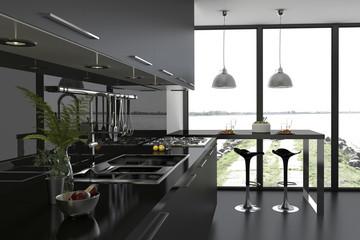 Einbauküche Küchenzeile modern Küche