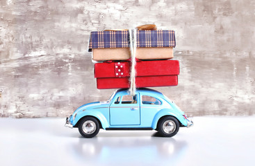 Car with gift
