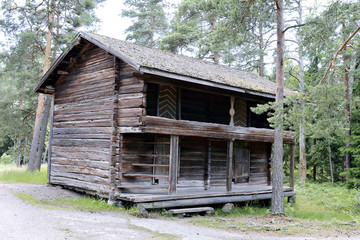 The old log house - the monument of wooden architecture in Finla
