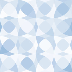 blue colored geometric abstract seamless pattern. Vector illustration
