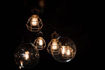 Bulp in Iron lantern