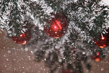decorated pine tree