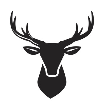 vector black deer head