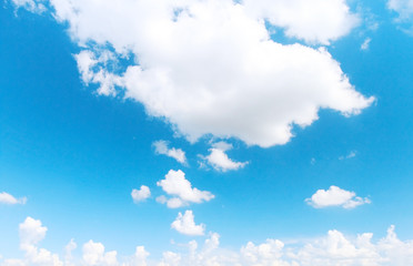 Blue sky and beautiful clouds background