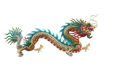 Chinese dragon isolated on white