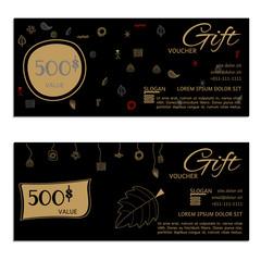 gift voucher vector coupon