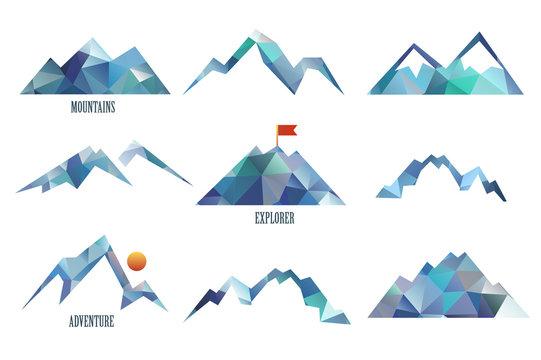 mount triangle vector  illustration