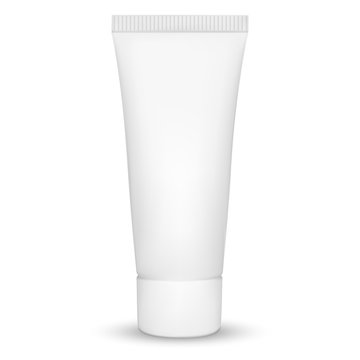 Blank white realistic tube for cosmetics, cream, ointment, tooth