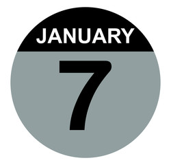 7 january calendar circle