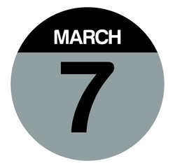 7 march calendar circle