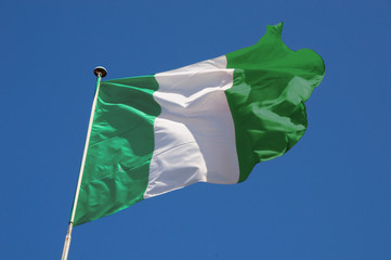 Wall Mural - Fluttering Nigerian Flag