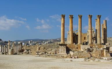 Jordanie, temples romains à Jerash