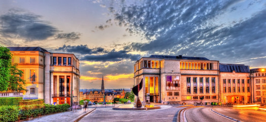 Coudenberg hill in Brussels in the evening - Belgium