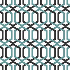 Seamless Interlocking Geometric Fret Background Pattern