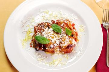 delicious eggplant parmigiana