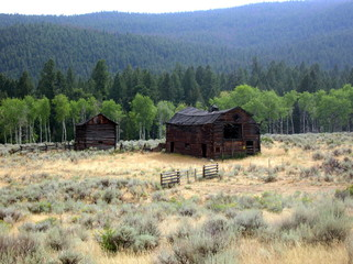 Old Wooden Barn in Western state