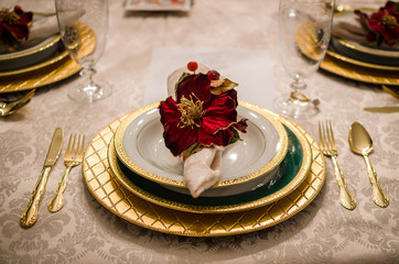 Fancy Dining Room Setting