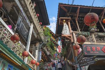 Wall Mural - 台湾・九份の町並み