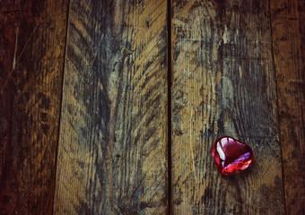 Valentine's day background, glass heart