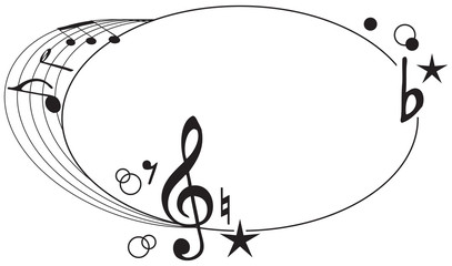 Ornament of musical symbols