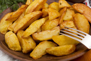 Potatoes fried in lard