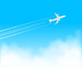 飛行機雲 青空1