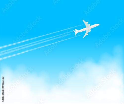 飛行機雲 青空1fotoliacom の ストック画像とロイヤリティフリーの