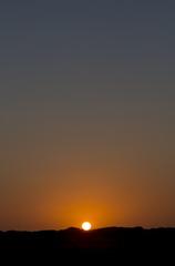Gorgeous orange sunset in la guajira, Colombia