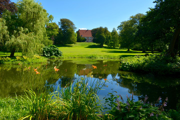 Park vom Schloss Krapperup in Schweden