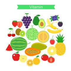 fruit icon set,vector