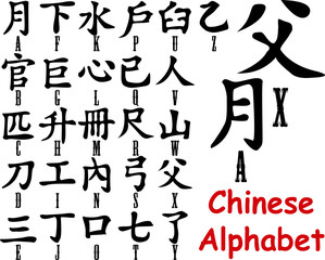 Chinese Alphabet Black -fo53