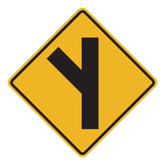 45 degree Intersection ahead