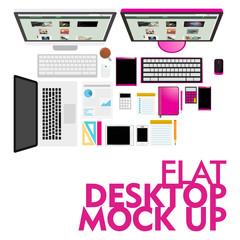 Mockup Modern Flat Design