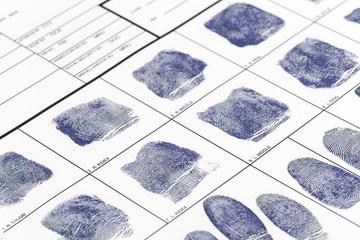 Fingerabdruck - Karte