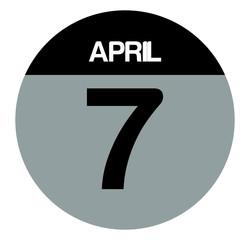 7 april calendar circle