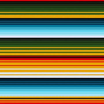Mexican ethnic striped seamless pattern. Vector illustration