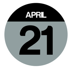 21 april calendar circle