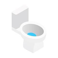 White toilet isometric 3d symbol